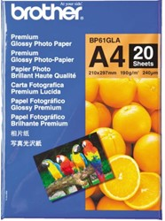 Fotopapier Brother BP-61 A4 190gr glossy 20vel