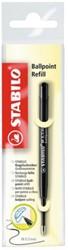 Balpenvulling Stabilo Standaard zwart  blister