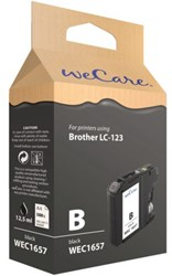 Inkcartridge Wecare Brother LC-123 zwart