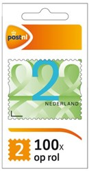 Postzegel NL waarde 2 zelfklevend 100 stuks