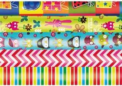 Inpakpapier Haza 70x200cm kids colours assorti