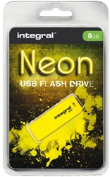 USB-stick 2.0 Integral 8GB neon geel