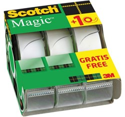 Onzichtbaar plakband Scotch Magic 810 19mmx7.5m +afroller