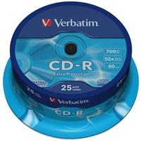 CD-R Verbatim 700MB 80min 52X spindel 25stuks-2