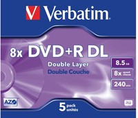 DVD+R Verbatim 8.5GB 8x Double layer jewelcase-2