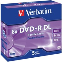 DVD+R Verbatim 8.5GB 8x Double layer jewelcase-1