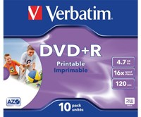DVD+R Verbatim 4.7GB 16x printable jewelcase-1
