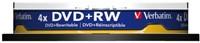 DVD+RW Verbatim 4.7GB 4x spindel 10stuks-2