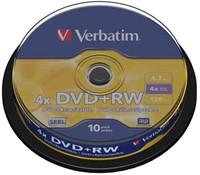 DVD+RW Verbatim 4.7GB 4x spindel 10stuks-1