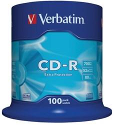 CD-R Verbatim 700MB 80min 52X spindel 100stuks