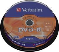 DVD-R Verbatim 4,7GB 16X spindel 10stuks-1