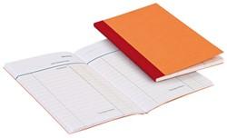 Kasboek 135x83mm 1 kolom 72blz oranje