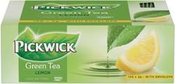 Thee Pickwick groene thee original lemon 100 zakjes van 2gr