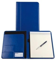 Schrijfmap Brepols A4 Palermo met blok koningsblauw