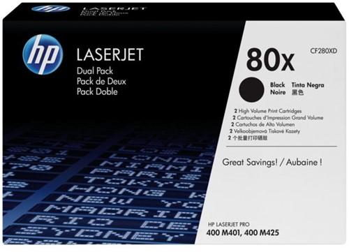 Tonercartridge HP CF280XD 80X zwart 2x HC