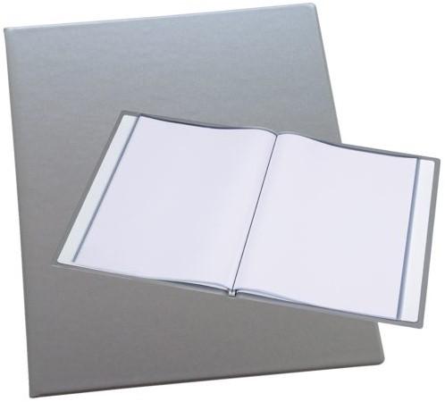 Showmap Rillstab A4 Trendline 40-tassen zilver