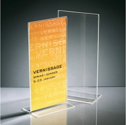 Tafelstandaard Sigel TA224 Din lang staand glashelder