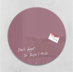 Glasbord Sigel magnetisch 400x15mm rond rood