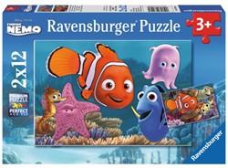 Puzzel Ravensburger Finding Nemo ontsnapt 2x puzzels à 12 st