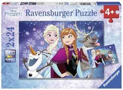 Puzzel Ravensburger Frozen Noorderlichten 2x puzzels à 24 st