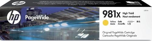 Inktcartridge HP L0R11A 981X geel HC