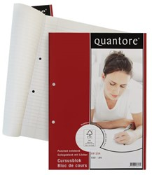 Cursusblok Quantore A4 2-gaats gelinieerd