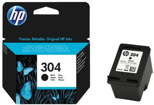 Inktcartridge HP N9K06AE 304 zwart