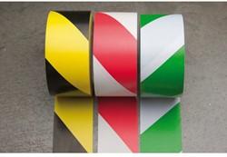 Markeringstape 55mmx33m geel/zwart