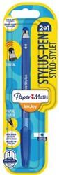 Balpen Paper Mate Inkjoy 100Cap Stylus blister blauw