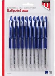 Balpen Quantore drukknop blauw
