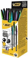 Balpen Bic Cristal Bicolor Gap zwart