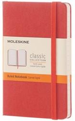 Notitieboek Moleskine large 210x130mm gelinieerd oranje