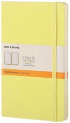 Notitieboek Moleskine large 130x210mm lijn citroengeel