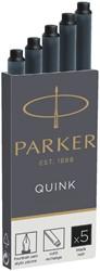 Inktpatroon Parker Quink permanent zwart