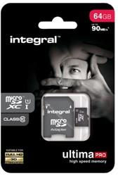 Geheugenkaart Integral Micro SDXC class10 64GB
