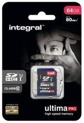 Geheugenkaart Integral SDXC class10 64GB