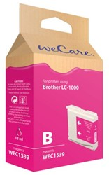 Inkcartridge Wecare Brother LC-1000 rood