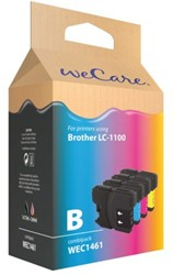 Inkcartridge Wecare Brother LC-1100 zwart + 3 kleuren