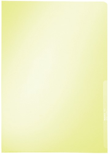 Insteekmap L-map Leitz premium A4 PVC geel