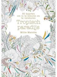 Kleurkaarten voor volwassenen paradijs 30stuks
