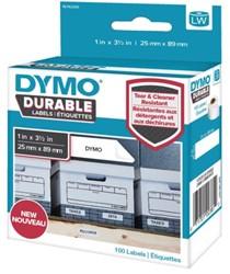 Etiket Dymo 1976200 labelwriter 25x89mm 100 stuks