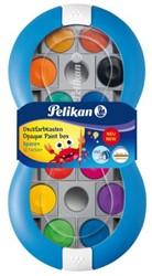 Dekverf Pelikan in blauwe doos assorti set à 12 napjes