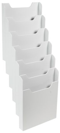 Folderhouder Exacompta wand A4 6-vaks staand grijs