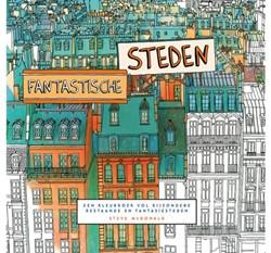 Kleurboek voor volwassenen fantastische steden