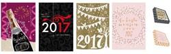 KERST/NIEUWJAARSKAART NEW YEAR 2017 10 STUK