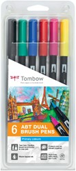 Brushstift Tombow Abt Dual assorti blister à 6 stuks