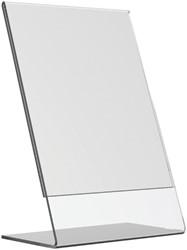Tafel folderstandaard Opus2 A5 staand glashelder