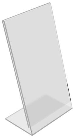 Kaarthouder OPUS 2 L-standaard A6 staand acryl-2