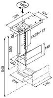 CPU houder Newstar D250 30kg zilver-3