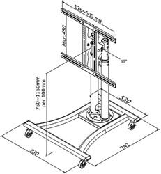 "monitormeubel Newstar M1200 27-70"" zilvergrijs"